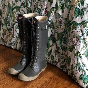 Lace-up HUNTER rain boots